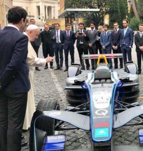 Formula E dal Papa