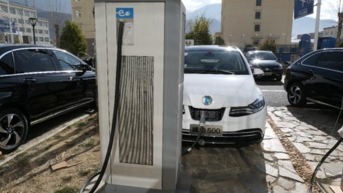 ABB EV Charger in Tibet