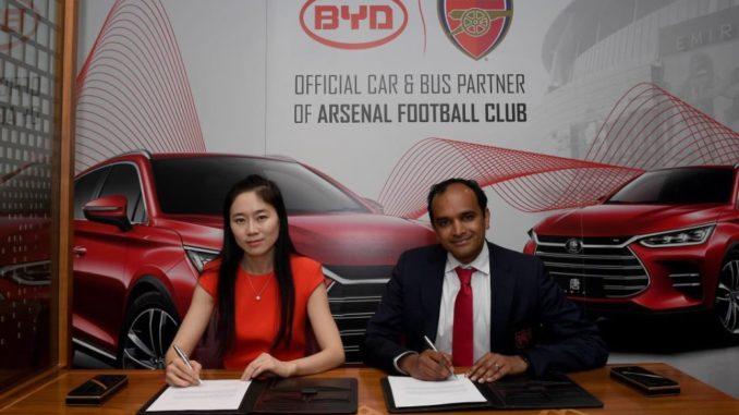 Arsenal e BYD