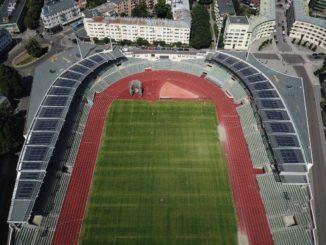 stadio olimpico Bislett di Oslo è ad energia solare