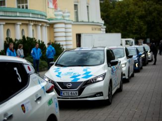 Nissan Leaf electric marathon