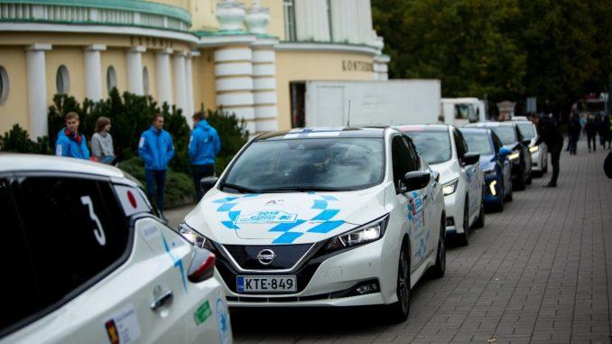 Nissan Leaf electric marathon