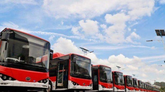 Autobus elettrici BYD Santiago del Cile