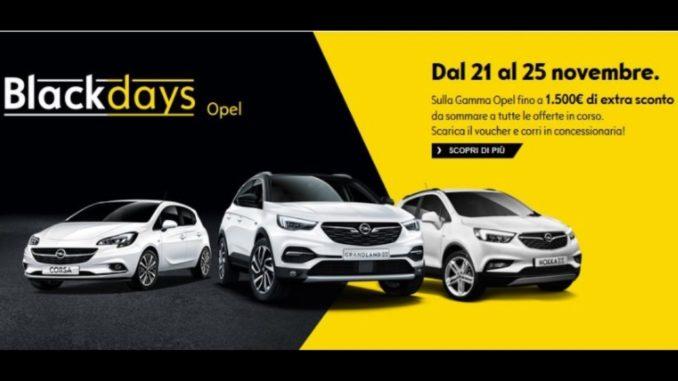 Operazione Black Days Opel