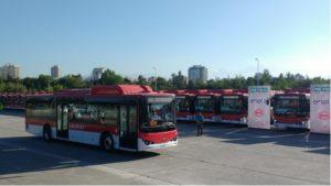 BYD ebuses Santiago Cile