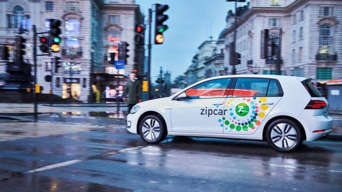 Volkswagen eGolf Zipcar UK