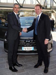 Hyundai Nexo a idrogeno Autostrada Brennero