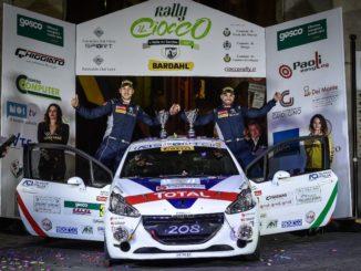 Ciuffi-Gonella e la Peugeot 208 al Rallye Sanremo