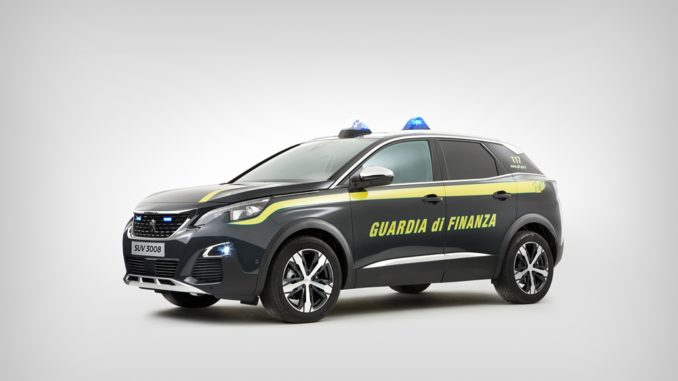 Peugeot 3008 Guardia di Finanza