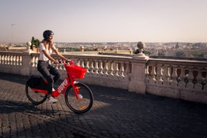 Roma bike sharing elettrico JUMP by Uber