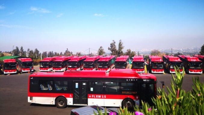 corridoio per autobus elettrici in America Latina BYD