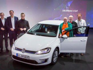 Volkswagen e-Golf numero 100mila