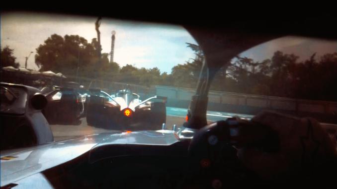 Formula E drivers eye camera