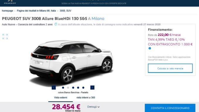 Peugeot Webstore