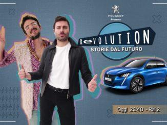 "Peugeot e-208 programma RAI2, ""Revolution, storie dal futuro"""