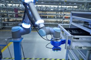 robot della logistica di BMW Group