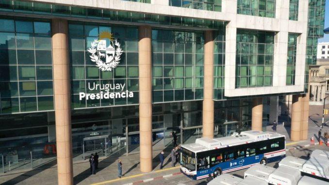 flotta di autobus elettrici BYD in Uruguay