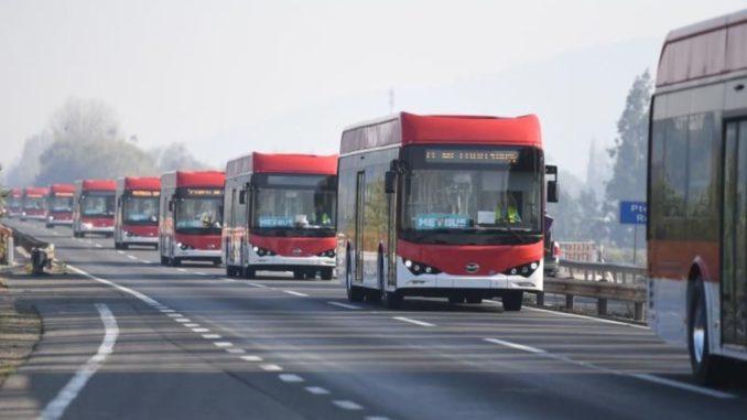 150 e-bus da BYD al sistema di trasporto pubblico cileno