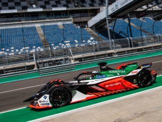 René Rast test al Lausitzring per il team Audi Sport ABT Schaeffler di Formula E