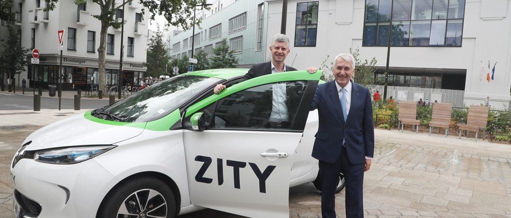 Renault car sharing Zity Boulogne-Billancourt