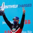 André Lotterer (DEU), Tag Heuer Porsche celebrates 2nd on the podium
