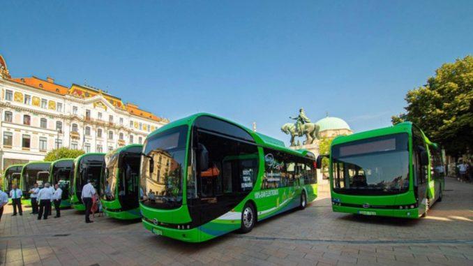 eBus da BYD alla città ungherese di Pécs