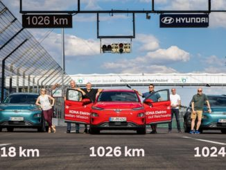 Hyundai Kona Electric record autonomia