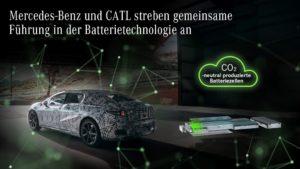 Partnership più profonda tra Mercedes Benz e CATL