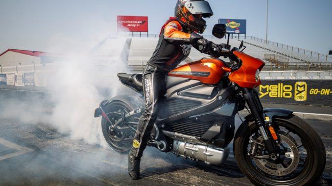 record Harley Davidson LiveWire