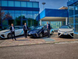 Toyota Mirai al progetto LIFEalps di Bolzano