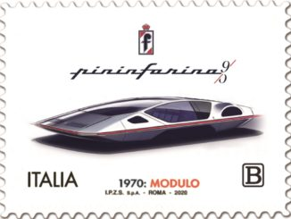 Francobollo dedicato alla Pininfarina Modulo