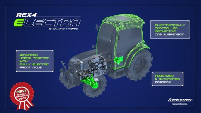 trattore ibrido Landini REX4 Electra – Evolving Hybrid