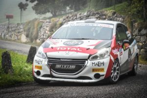 Peugeot Competition 208 Rally Cup Top 2020. Bis di Alessandro Casella al Rally Due Valli