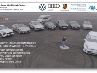 """Swarm test"" di AB Dynamics e Volkswagen Group"