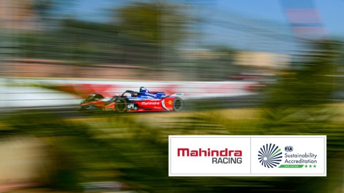 Mahindra Racing, Three-Star Excellence in Sustainability dalla FIA