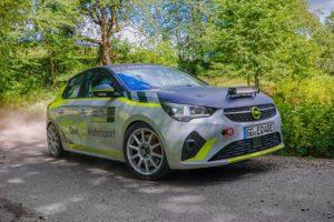 sicurezza Opel Corsa-e dell'ADAC Opel e-rally Cup