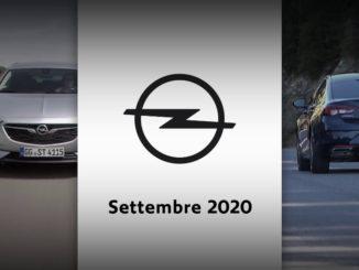 Il mese di Settembre 2020 di Opel