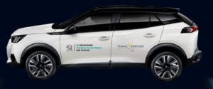 Mobilità dei medici di Tennis & Friends con Peugeot elettrificate