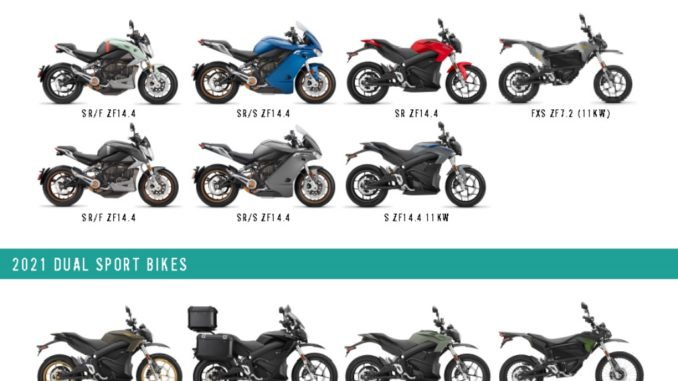 La nuova gamma modelli 2021 svelata da Zero Motorcycles