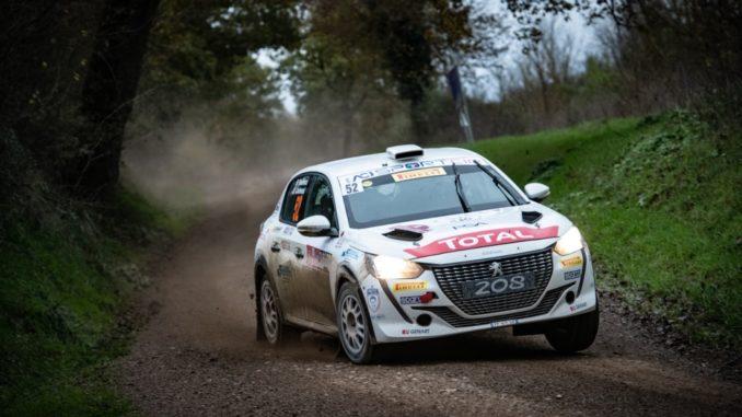 Paolo Andreucci sulla Nuova Peugeot 208 Rally 4 è il Campione Italiano Rally 2 Ruote Motrici 2020