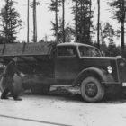Opel Blitz Dreitonner mit Meiller-Kippaufbau, Ende 30er-Jahre