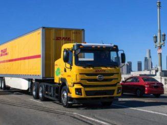 Camion elettrico BYD nella green fleet di DHL negli Stati Uniti