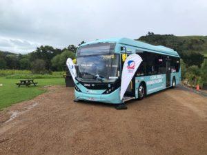 Autobus elettrici BYD ADL Enviro 200 EV per l'isola di Waiheke in Nuova Zelanda