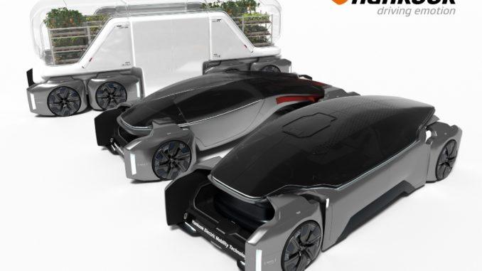 """""""Design Innovation 2020"""", progetto Hankook di pneumatici e mobilità futuristica"""