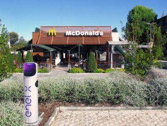 Partnership McDonald's ed Enel X per ricarica nei parcheggi