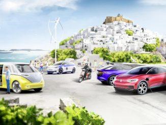 Isola modello per la mobilità a impatto zero da Gruppo Volkswagen e Grecia