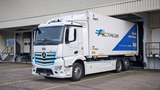 Inapa avvia prove pratiche del Mercedes-Benz eActros da 35 tonnellate nella regione di Karlsruhe