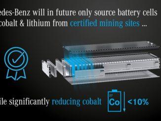 Mercedes Benz. Riduzione del cobalto nelle batterie e certificazione dei siti produttivi