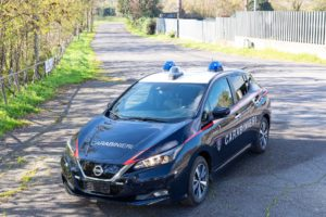 L'Arma dei Carabinieri impiegherà 52 Nissan Leaf nei Parchi Nazionali