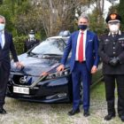 nissan_leaf_carabinieri_electric_motor_news_13_da_sx ing.Paolo Matteucci – Ministro Sergio Costa – Gen. C.A. Ciro D'Angelo